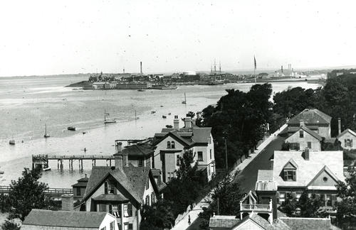 Newport Harbor Looking North From St. John's Church