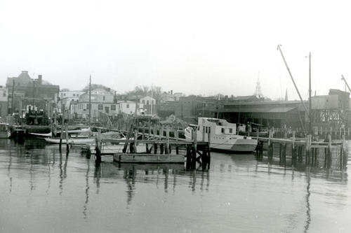 Norton's Boat Yard, Sullivan's Coal Yard from Long Wharf