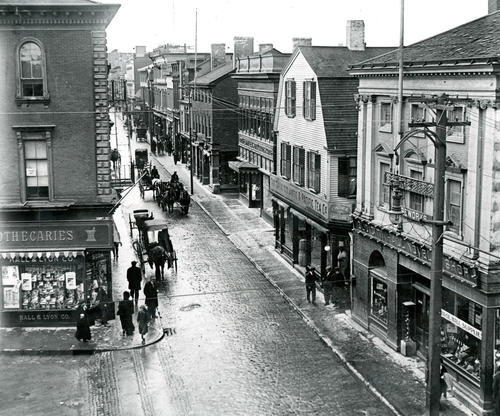 Thames Street From Washington Square, Newport