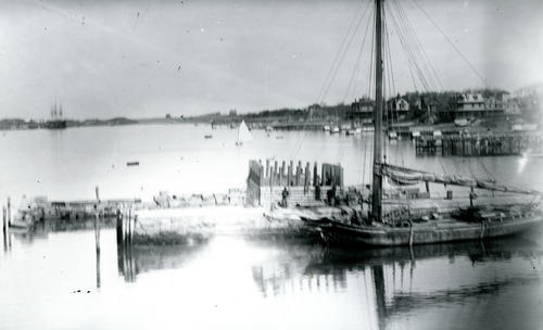 Construction on Brigg's Wharf, Newport