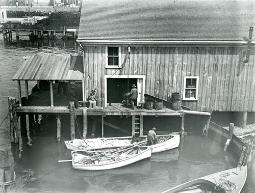 George Lewis Fish House, Seaconnet River Fishing Co., Newport