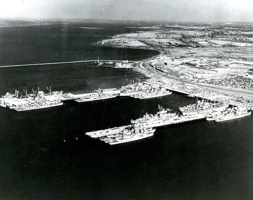 Aerial view of Naval Base Newport
