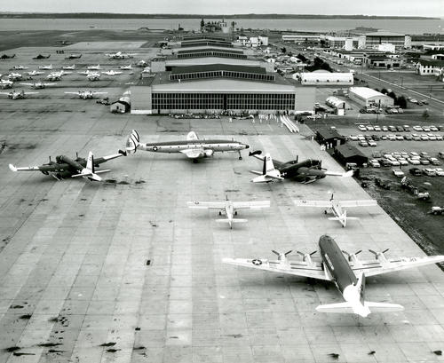 U.S. Naval Air Station, Quonset Point; VX-6's Parking Apron; Pre-Open House Ceremonies