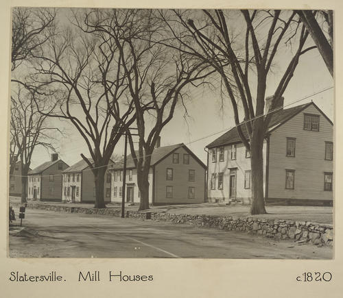 Slatersville. Mill Houses c.1820