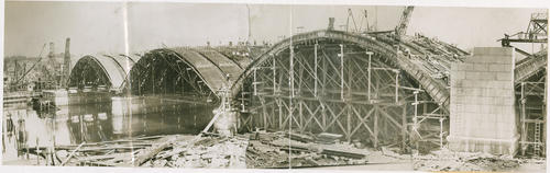 Washington Bridge construction