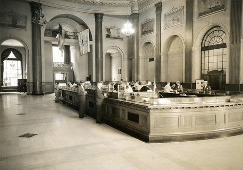 Old Stone Bank, Empire Street, Providence; Interior