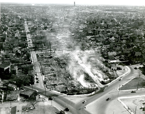 Aerial View of Fire