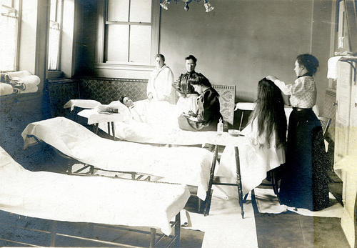 Women Being Treated in Infirmary
