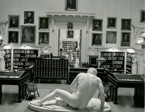 Redwood Library Interior- 'Dying Gaul' in foreground