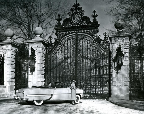 The Breakers, Newport. Closed Iron Gates at Entrance of Estate