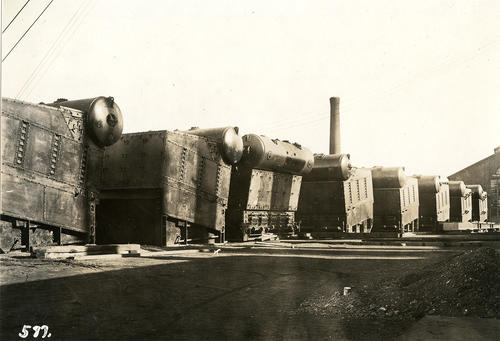 Priscilla (Steamer); Water Tube Boiler on Wharf Before Being Installed