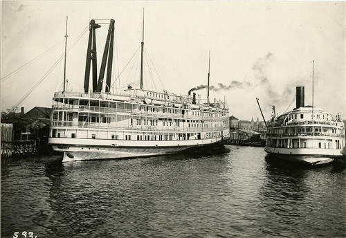 Priscilla (Steamer) with City of Lowell at Beavertail