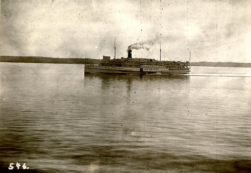 Plymouth (Steamboat) in Lower Bay