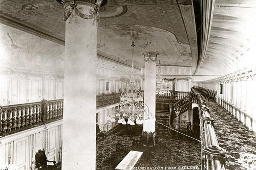 Pilgrim (Steamer) Grand Saloon From Gallery