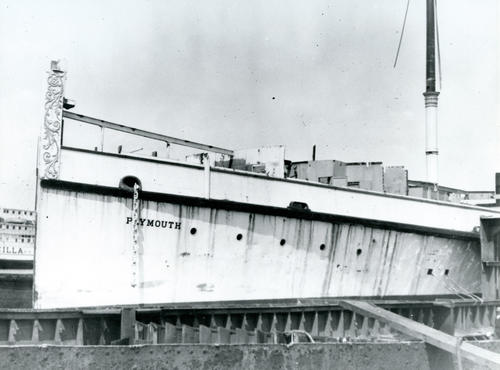 Steamer Plymouth at United Shipbuilding Corp. Scrapyard