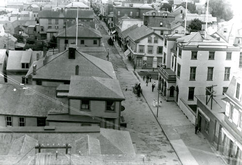 Looking Up Thames Street From Roof of the Perry Mill, Newport