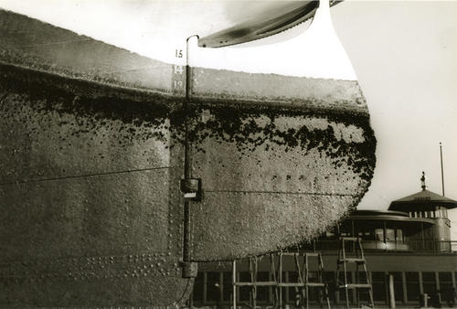 SS Plymouth Fall River Line Drydock