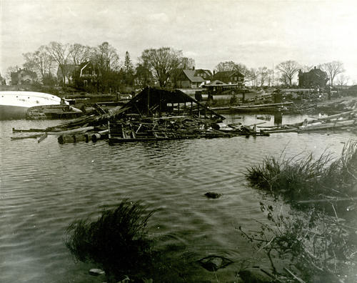 Damage at Pawtuxet Cove