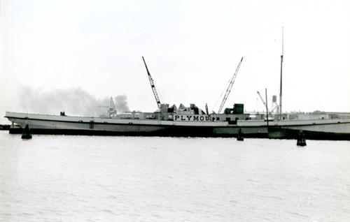 SS Plymouth Fall River Line At Baltimore Shipyard
