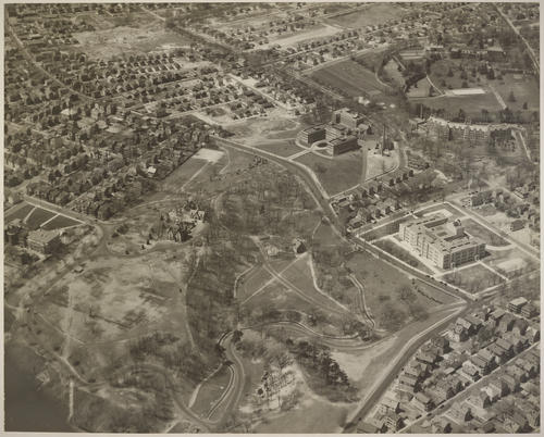Davis Park, site of Veteran's Administration Hospital, View of