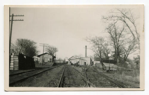 Narragansett Pier RR, View of Engine House & Shops