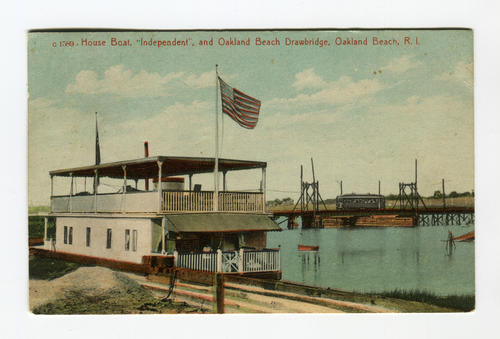 "Houseboat, ""Independent"", and Oakland Beach Drawbridge"