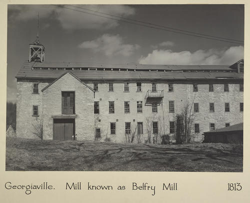 Georgiaville. Mill known as Belfry Mill 1813