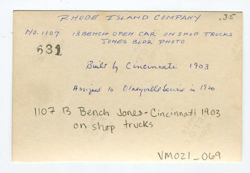 1107 13 Bench Jones-Cincinnati 1903 on shop trucks