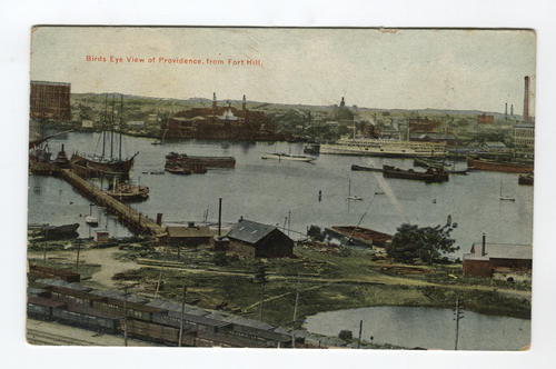 Birds eye view of Providence, from Fort Hill