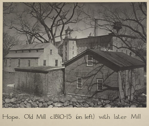 Hope. Old Mill c. 1810-15 (on left) with later Mill