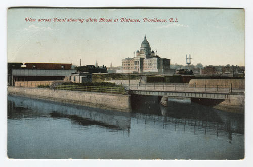 R.I. State House and canal, Providence
