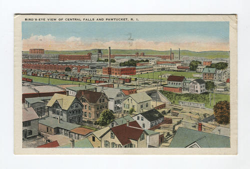 Birds-eye view of Central Falls and Pawtucket