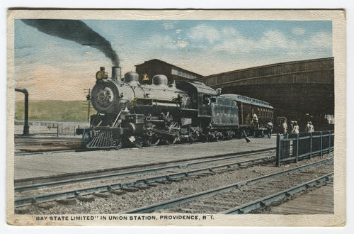 """Bay State Limited"" in Union Station, Providence, R.I."