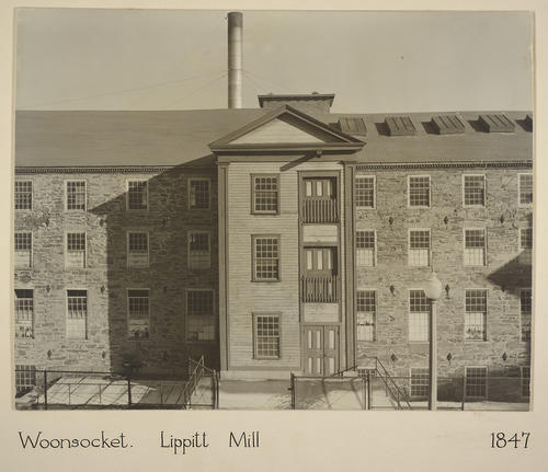 Woonsocket. Lippitt Mill 1847
