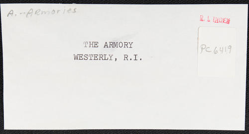 The Armory, Westerly, R.I.