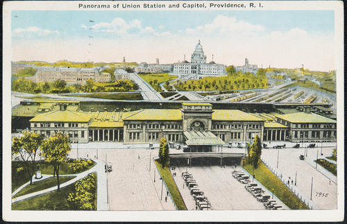 Panorama of Union Station and Capitol, Providence, R.I.