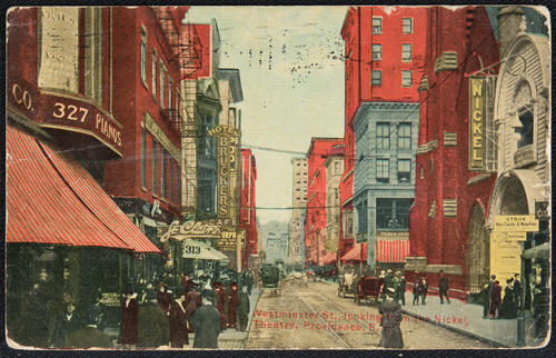 Westminster St., looking from the Nickel Theatre, Providence, R.I.