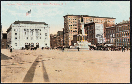 Exchange Place, showing New Post Office, Providence, R.I.