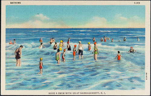 Bathing; Have a swim with us at Narragansett, R.I.