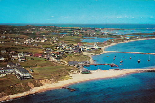 Block Island, R.I. from the air.