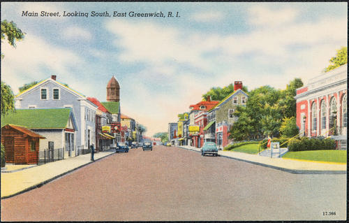 Main Street, Looking South, East Greenwich, R.I.