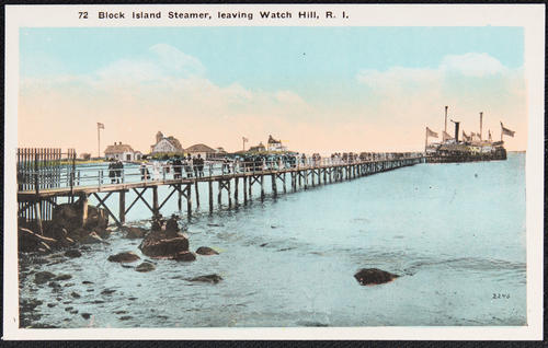 Block Island Steamer leaving Watch Hill, R.I.
