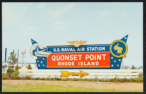 Entrance to Quonset Point Naval Air Station