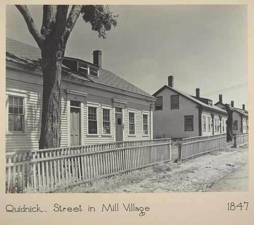 Quidnick. Street in Mill Village 1847