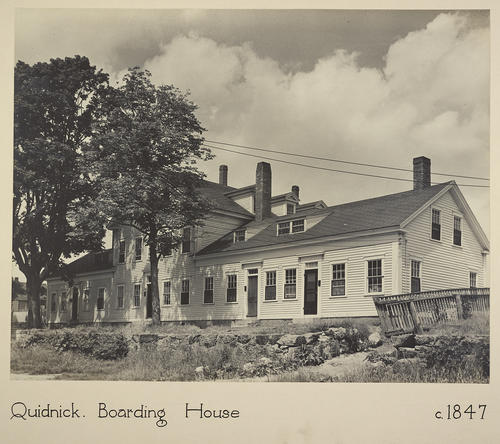 Quidnick. Boarding House c. 1847