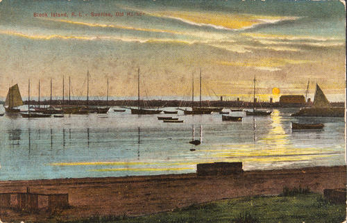 Block Island, R.I. - Sunrise, Old Harbor