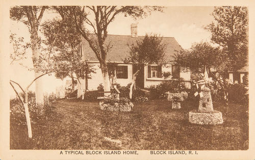 A Typical Block Island Home, Block Island, R.I.