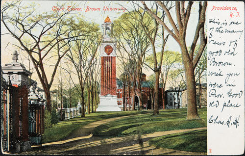 Clock Tower, Brown University, Providence, R.I.