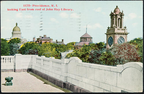 Providence, R.I. looking East from roof of John Hay Library