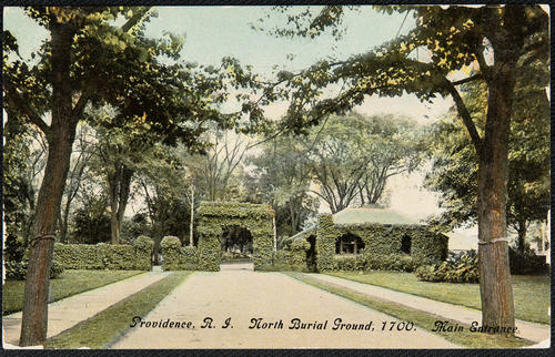 Providence, R.I. North Burial Ground, 1700. Main Entrance.
